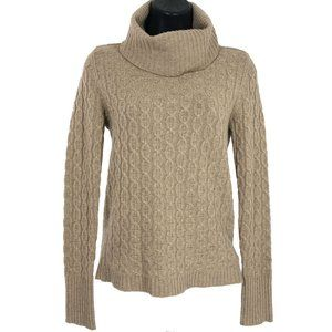 Magaschoni Turtleneck Sweater Cashmere Cable Knit